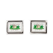 Personalized Snuggle Bunny Rectangular Cufflinks