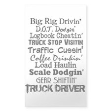 Big Rig Drivin' Decal