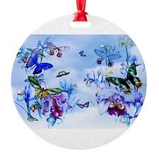Take Flight Butterflies Orchids Ornament
