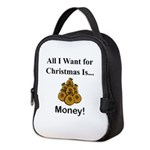 Christmas Money Neoprene Lunch Bag