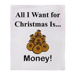 Christmas Money Throw Blanket