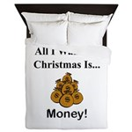 Christmas Money Queen Duvet
