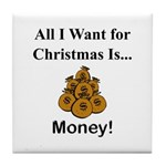 Christmas Money Tile Coaster