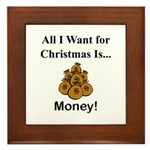 Christmas Money Framed Tile