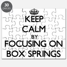 Keep Calm by focusing on Box Springs Puzzle