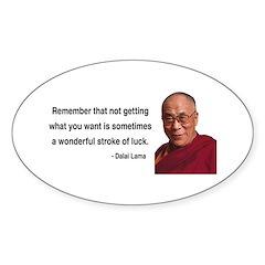Dalai Lama 9 Oval Decal