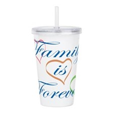 Family is Forever Acrylic Double-wall Tumbler