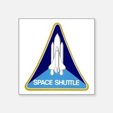 "Original Space Shuttle Logo Square Sticker 3"""