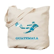 Guatemala Soccer Player Tote Bag