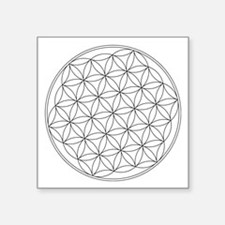 "Flower Of Life Symbol Square Sticker 3"" X 3&q"