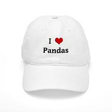I Love Pandas Baseball Cap