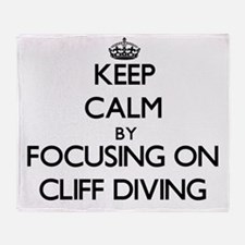 Keep Calm by focusing on Cliff Divin Throw Blanket