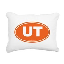 Utah UT Euro Oval Rectangular Canvas Pillow