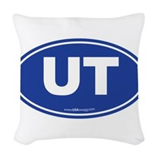Utah UT Euro Oval Woven Throw Pillow