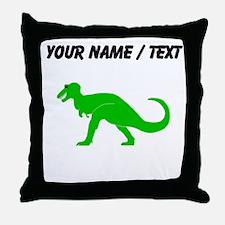 Green T-Rex (Custom) Throw Pillow