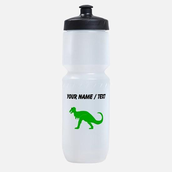 Green T-Rex (Custom) Sports Bottle