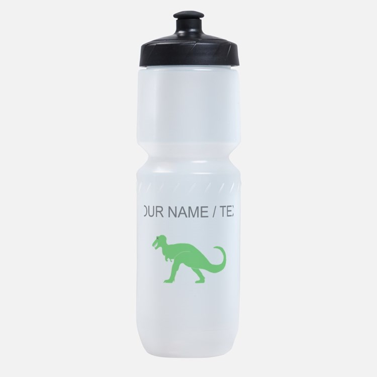 Green T-Rex (Custom) Sports Bottle