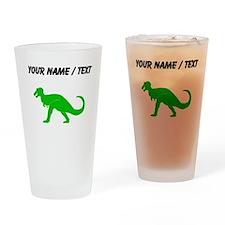 Green T-Rex (Custom) Drinking Glass