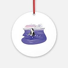 Scenic Orca Design Ornament (Round)