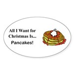 Christmas Pancakes Sticker (Oval 10 pk)