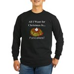 Christmas Pancakes Long Sleeve Dark T-Shirt