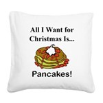 Christmas Pancakes Square Canvas Pillow