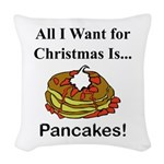 Christmas Pancakes Woven Throw Pillow