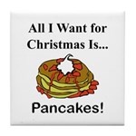 Christmas Pancakes Tile Coaster