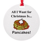 Christmas Pancakes Round Ornament