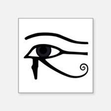 "Left Eye Of Horus Symbol Square Sticker 3"" X"