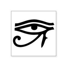 Egyptian Eye Of Horus Symbol Square Sticker 3&quot