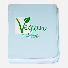 Vegan For Life baby blanket