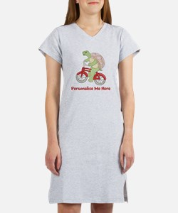 Personalized Bicycle Women's Nightshirt