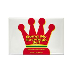 Be Your Sovereign Self Rectangle Magnet