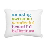 Ballerina Rectangle Canvas Pillows