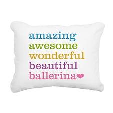 Amazing Ballerina Rectangular Canvas Pillow