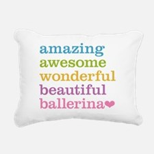 Amazing Ballerina Rectangular Canvas Pillow