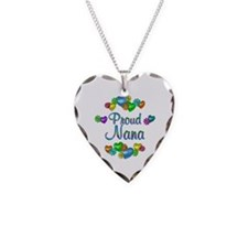 Proud Nana Necklace Heart Charm