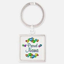Proud Nana Square Keychain