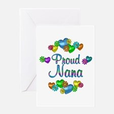Proud Nana Greeting Card