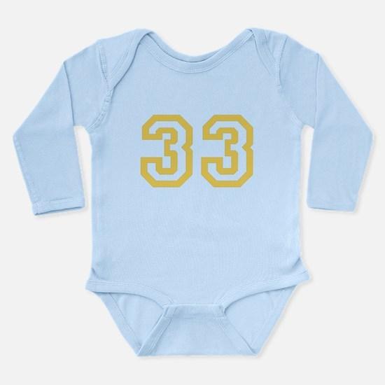 GOLD #33 Long Sleeve Infant Bodysuit