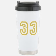 GOLD #33 Travel Mug