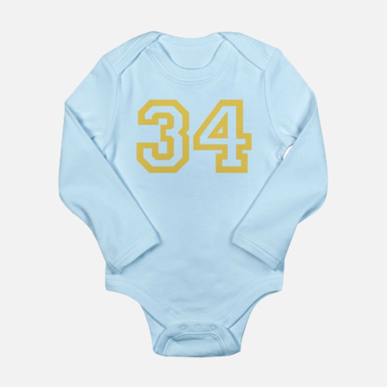 GOLD #34 Long Sleeve Infant Bodysuit