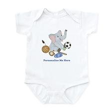 Personalized Sports - Elephant Infant Bodysuit