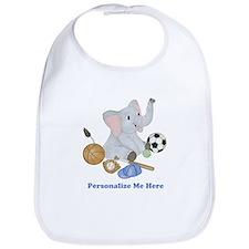 Personalized Sports - Elephant Bib