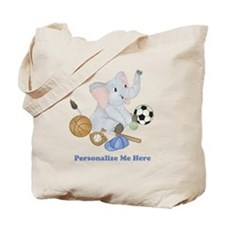 Personalized Sports - Elephant Tote Bag