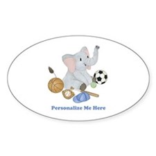 Personalized Sports - Elephant Decal