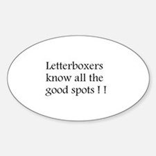 Letterboxer Oval Decal