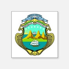 """Coat Of Arms Of Costa Rica Square Sticker 3"""""""