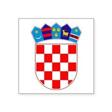 "Croatian Coat Of Arms Square Sticker 3"" X 3&q"